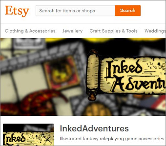 Etsy InkedAdventures Store Front
