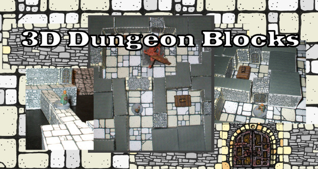 Prototype 3D Dungeon Blocks | Cardboard Warriors forum