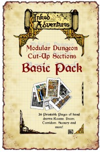 Cover for Inked Adventures Modular Dungeon Basic Pack