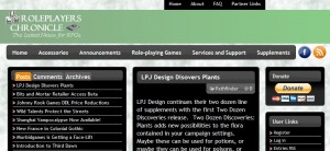Roleplayer's Chronicle - web site