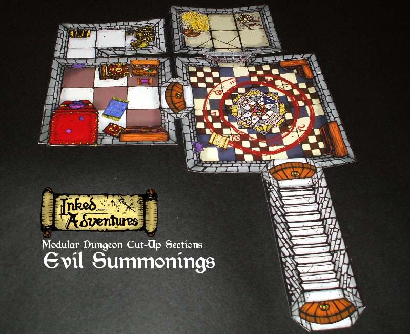Inked Adventures Evil Summonings layout printed on photo paper