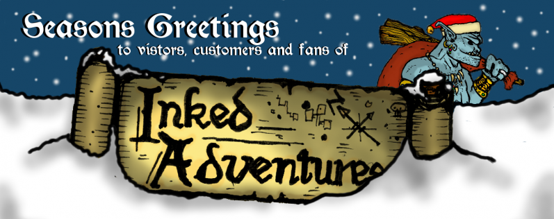 Seasons Greetings to visitors, customers and fans of Inked Adventures