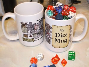 Photo of Inked Adventures Dice Mugs