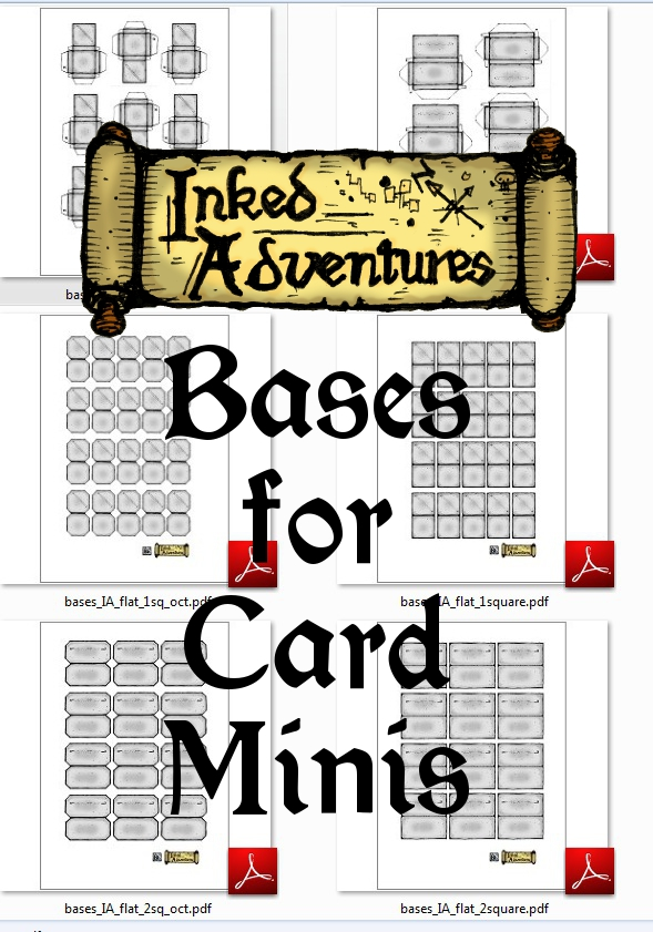 Click to download zip file of bases for paper minis