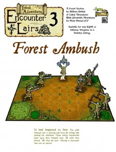 Inked Adventures Encounter Lairs 3 Forest Ambush (cover)