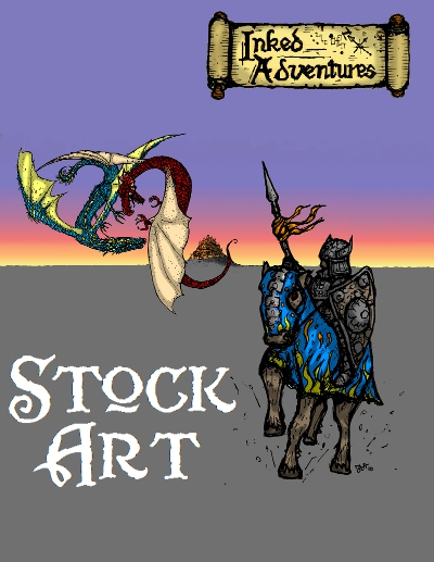 Stock Art on DriveThruRPG - ideal for covers - Inked Adventures Billiam Babble