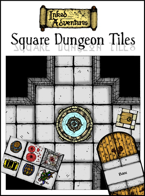 Inked Adventures Square Dungeon Tiles Cover