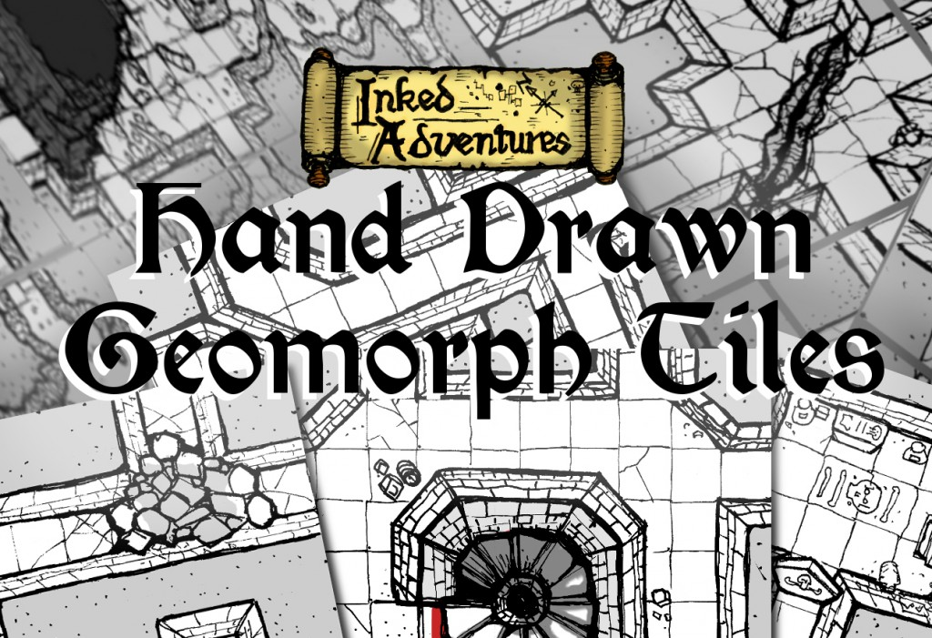 Inked Adventures Hand Drawn Geomorph Tiles