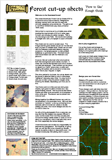 How To Use Forest Cut Up Sheets Guide click for PDF