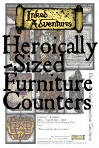 Heroically-Sized Furniture Counters on DTRPG