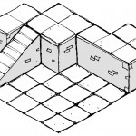 Drawn mock-up layout demonstrating reverse sides being used as second level - Inked Adventures Blocks