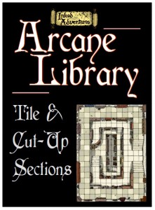 Arcane Library Tile and Sections on DTRPG