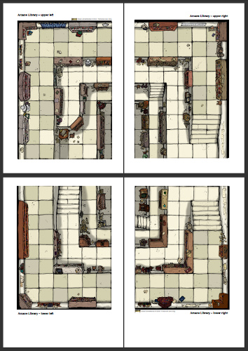 Thumbnail of Large Library Tile PDF pages