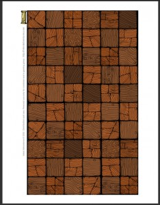 Low res preview of wooden floor sheet (Inked Adventures 2015)