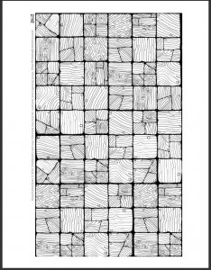 Low res preview of wooden floor sheet black and white line art only (Inked Adventures 2015)