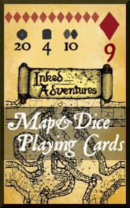 Map&Dice Playing Cards on DTRPG