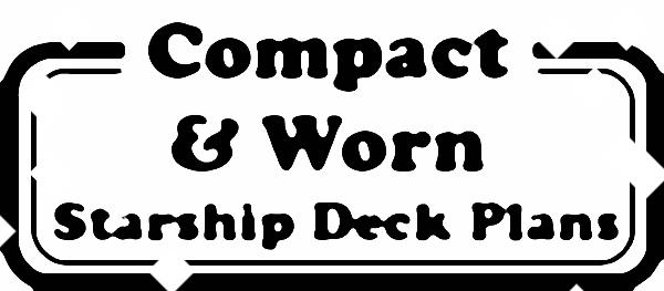 Compact & Worn Starship Deck Plans (Logo Stamp Inked Adventures 6x6 Tiles)