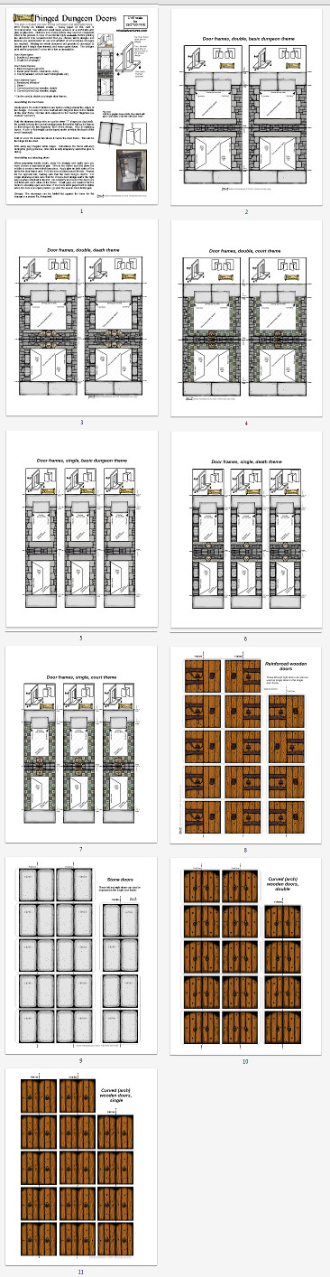 Page Thumbnails Hinged Dungeon Doors