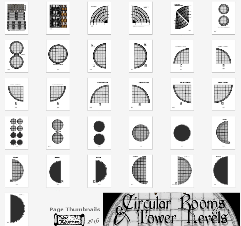 Low res thumbnails of pages in the Circular Rooms and Tower Levels PDF