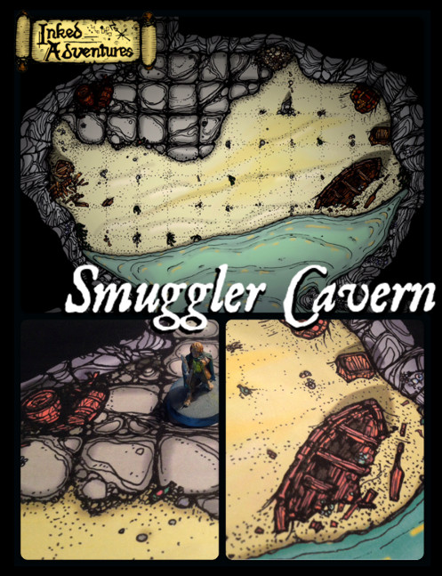 Smuggler Cavern promo graphic Inked Adventures 2016