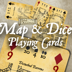 Take me to the Inked Adventures Map and Dice Playing Cards
