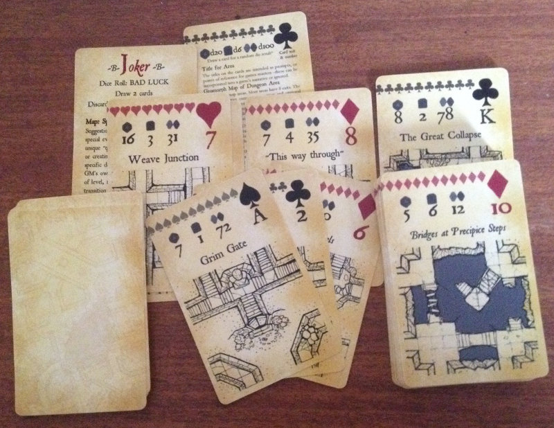 Photo Inked Adventures Map and Dice Playing Cards